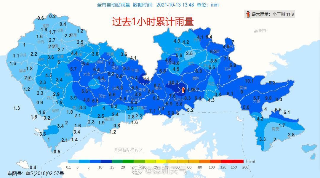 深圳市暴雨橙色预警降级为黄色、解除分区雷电预警,台风