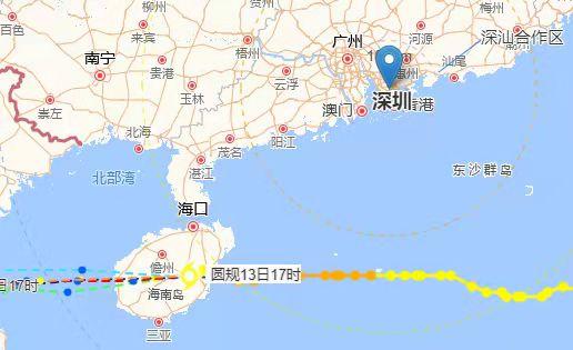 """""""圆规""""已给深圳带来明显风雨影响,14日白天风雨结束"""