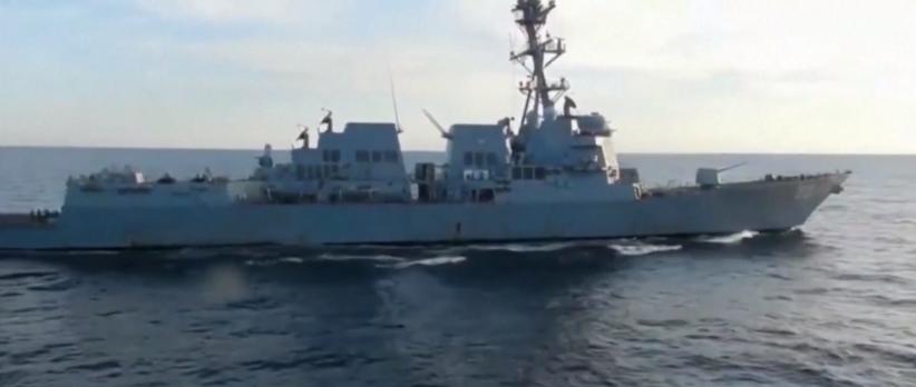 骚扰中俄联演?美海军驱逐舰试图闯入俄领海遭驱离