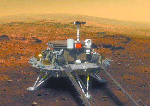 我国天问一号成功在火星表明采集火星地理科学影像并传回地球